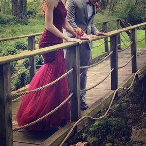 Maroon Alyce Paris prom dress